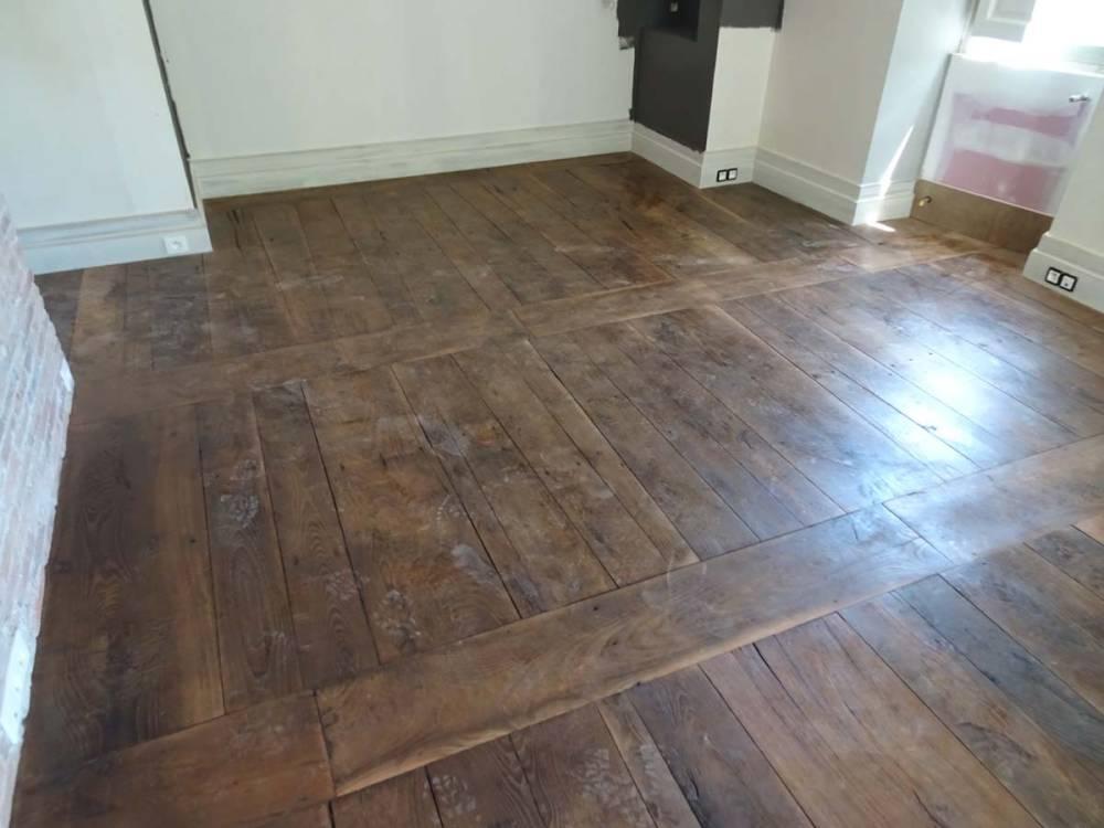 plancher en ch ne vestiges de france vente de mat riaux anciens. Black Bedroom Furniture Sets. Home Design Ideas