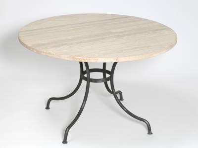 Table repas ronde. LUBERON