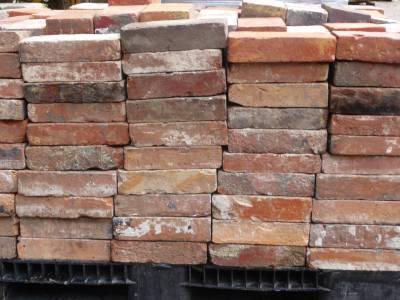 Briques anciennes mélanges de couleurs.