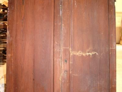 Portes doubles de placard en bois blanc