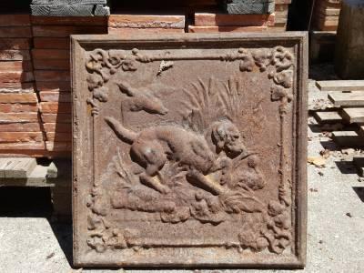 Plaque ancienne de cheminée